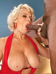 Georgette Parks' First Interracial Fuck!